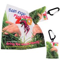 Customized 0701 Custom Superior HI Microfibre Lens Cloth In Pouch with Carabiner