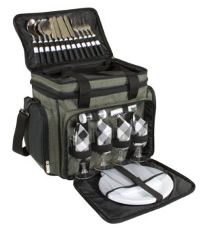 Branded 4 Person Picnic Bag with Cooler