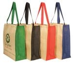 Business promo Jute Panelled Carry-All