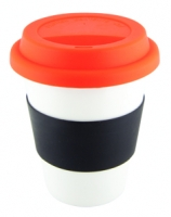 Business promo White Ceramic Takeaway Cup