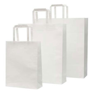 Customized Paper Bag Small white