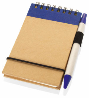Business promo A6 Recycled jotter with pen