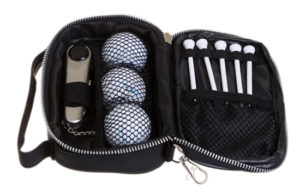 Customized Golf Tool, Ball and Tee Set in Pouch