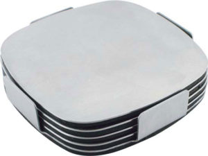 Business promo Executive Stainless Steel Coaster Set