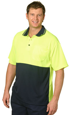 Hi Vis Cooldry Micro-mesh Short Sleeve Safety Polo