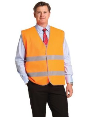 Branded High Visibility Safety Vest With Reflective Tapes