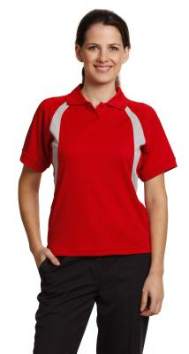 Branded Ladies' Cooldry Soft Sports Mesh Contrast Short Sleeve Polo Sydney