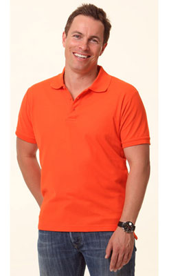 Branded Mans Cooldry Solid Colour Pique Polo