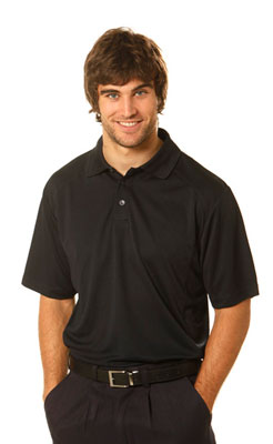 Branded Men's Breathable Bamboo Charcoal Polo