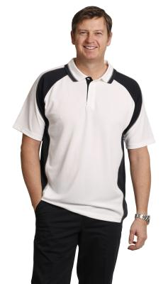 Branded Men's Cooldry Mini Waffle Short Sleeve Contrast Polo