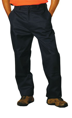 Branded Men's Heavy Cotton Pre-shrunk Cargo Pants With Knee Pads