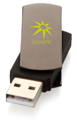 Promotional Rotating USB -Brown