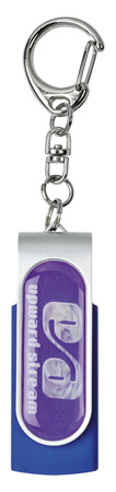 Personalised Twister USB With Doming Blue